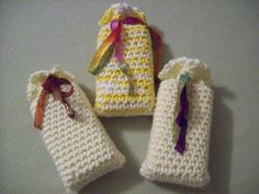 "Free pattern for ""No-Sew Crocheted Soap Sack"" by Lois Mitchell!"