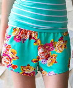 Look at this White Plum Mint & Pink Must Have Rose Shorts on #zulily today!