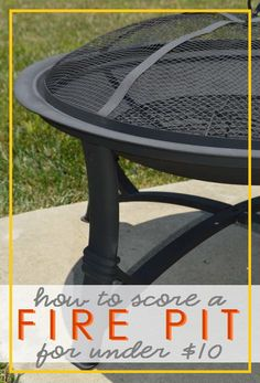 new fire pit for under $10 Roasting Marshmallows, Outdoor Tables, Outdoor Decor, Projects To Try, Fire, Outdoor Furniture, Crafty, Home Decor, Decoration Home