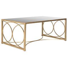 Safavieh Melosa Antique Gold Leaf Coffee Table