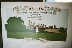 Guestbook Alternative or addition - could be at the ceremony if you're inviting different people to ceremony and reception !