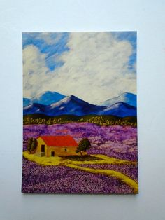 Lavender Farm Print ARTIST TRADING CARDS 2.5 x 3.5 by MikeKrausArt