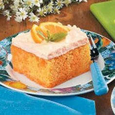 Orange Cream Cake (I've personally been making this recipe for years and it is ALWAYS a huge hit)