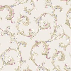 York EL3966 Arlington Scroll Wallpaper