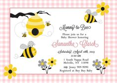 Sweet Bee Baby Shower Thank You Cards Sweet as Can Bee Baby
