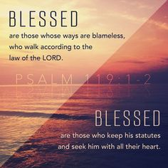 Daily Bible Verse Blessed are the undefiled in the way, Who walk in the law of the Lord! Blessed are those who keep His testimonies,. Scripture Verses, Bible Verses Quotes, Bible Scriptures, Godly Quotes, Faith Quotes, Praise Quotes, Morning Scripture, Life Verses, Scripture Pictures