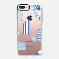Check out this design on Casetify! Iphone 7 Plus Cases, Iphone Case Covers, Tech Accessories, Pattern Design, Apple Iphone, City, Summer, Geometric Patterns, Blue