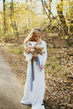 This rock quarry wedding features the most beautiful dried hydrangea arrangements and a Fall color palette of french blue, gold and rose. Black Tie Attire, Bridal Portrait Poses, Hydrangea Arrangements, Fall Color Palette, Wedding Bouquets, Wedding Dresses, Most Beautiful Images, Bridal Pictures, French Blue