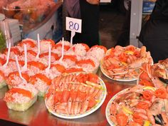 Enjoy fresh seafood by the docks in Oslo, Norway, known for its fish markets that offer staples like peel-and-eat shrimp.