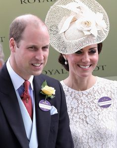 Prince William, Duke of Cambridge and Catherine, Duchess of Cambridge attend the second day of Royal Ascot at Ascot Racecourse on June 15, 2016 in Ascot, England.