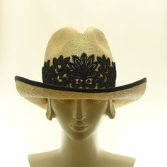 Natural Straw Hat - Handmade Ladies Fedora Hat - Cowboy Hat -sooo cute! I love this hat!