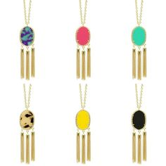 Triple Tassel NK - $19.50 | We are loving all these fun new colors in these tassel necklaces! #sophieshoesjoplin