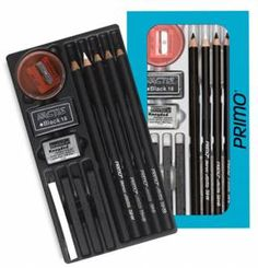 General's PRIMO Euro Blend Charcoal Drawing Set
