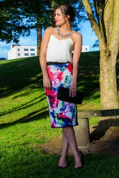 Fit is Everything  | Fashion Tips | Floral Midi Skirt | Milly | www.stylemissmolly.com