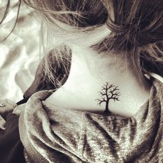 Tree neck tattoo