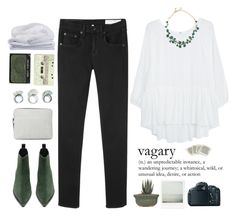 """""""Maya ( Noelle's challenge, set 1 )"""" by end-of-the-day ❤ liked on Polyvore featuring rag & bone/JEAN, MANGO, Oscar de la Renta, Acne Studios, 3.1 Phillip Lim, Sheridan, NARS Cosmetics, Canon, women's clothing and women's fashion"""