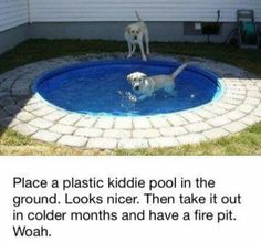 Plastic pool disguise
