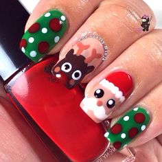Christmas by thecraftyninja #nail #nails #nailart