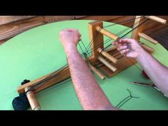 Inkle Weaving - How to make heddles & warp the loom - YouTube