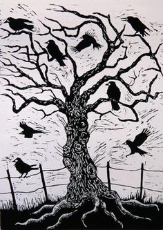 """Rook Tree. Reminds me of a tree in """"something wicked this way comes."""""""