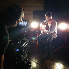 "Joey during their filming of the video for their ""Wake Me Up/Hey Brother"" mash-up cover :)"