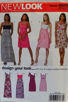 New Look 6933 Misses  Special Occasions Dresses. Dress Sewing PatternsSewing  ... e3080c0ea