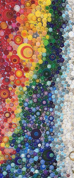 plastic bottle top mural