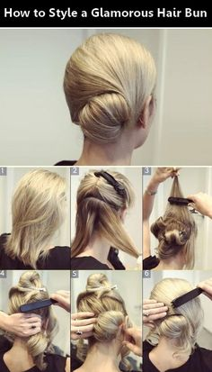 How to Style a Glamorous Hair Bun. My hair is obviously too short but for my friends and those who have the long enough hair. Trendy Hairstyles, Bun Hairstyles, Wedding Hairstyles, Coiffure Hair, Glamorous Hair, Corte Y Color, Hair Affair, Great Hair, Bridesmaid Hair