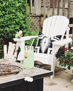I hope the rain holds off and we can have a bonfire tonight! What are your plans this evening? Shop our fire pit seating area furniture and decor ➡️ click on the link in my bio Setting for Four then tap this pic to see all the items🌟✨ or \'like\' this pic to get the sources sent right to your inbox with @liketoknow.it liketk.it/2styz 💫✨ #firepit #outdoorliving #adirondackchairs #LTKhome @liketoknow.it.home #summerfun #liketkit