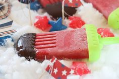 #paleo #paleomg Chocolate Covered Strawberry Popsicles