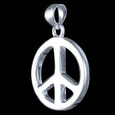 Silver pendant, peace Silver pendant, Ag 925/1000 - sterling silver. Peace sign. Diameter excluding loop approx. 15x2mm.