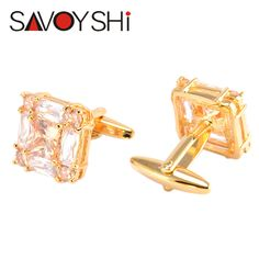 Wedding Gifts. New Fashionable Gold Square Cufflinks Active Free Delivery Mens Shirts High Quality Copper Material Cuff Links