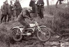 Sammy #Miller aboard a classic #Bultaco motorcycle.