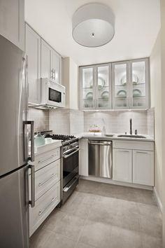 Small, Contemporary NYC Kitchen (Cultivate.com)