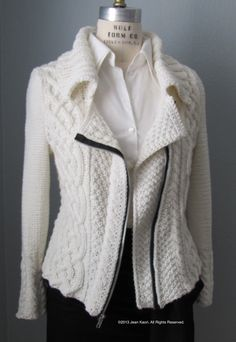 J.Kaori Sews: The Moto Jacket Obsession Continues: A Cabled Knit Version