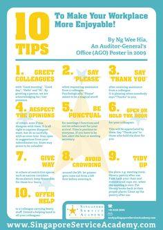 10 Tips for making the workplace more enjoyable