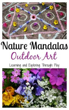 Learning and Exploring Through Play: Nature Mandalas Outdoor Art