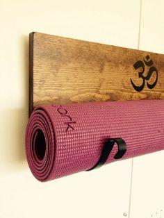 Yoga mat bag handmade yoga mat bag holder wall by YogaWares