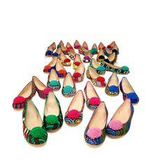 Passende Schuhe zum afrikanisch-bayrischen Dirdnl von Noh Neet | creme münchen
