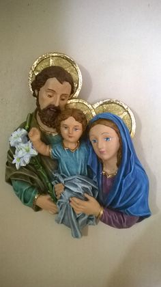 Sagrada Familia. Pintada a Mano. Cerámica de pared.