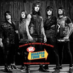 warped tour, they are on the 2016 tour and I can't wait!! Hopefully I get tickets along with MIW, SWS and Ghost Town