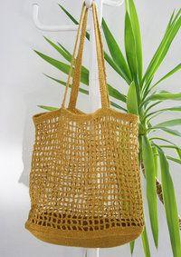 Rantsu-juuttikassi Knitted Bags, Crochet Designs, Farmhouse Decor, Straw Bag, Arts And Crafts, Bling, Knitting, Handmade, Inspiration