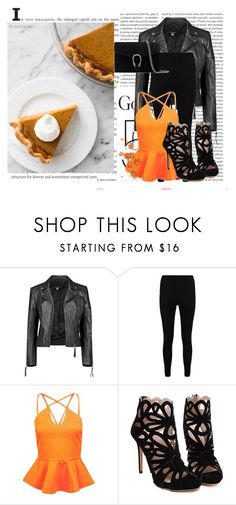 """Orange Fall"" by nerdyearthling7 ❤ liked on Polyvore featuring Oris, Boohoo and Gucci"