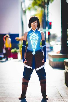 Avatar Korra costume made and worn by: Gurl With Red Hair, Photo: York in a Box