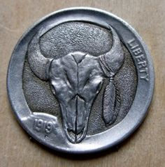Robert Shamey Hobo Nickel, Paper Cutting, Buffalo, Coins, Carving, Money, Personalized Items, Art, Art Background