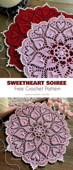 Free Crochet Doily Patterns, Crochet Motifs, Crochet Designs, Free Pattern, Knitting Patterns, Crochet Ideas, Knitting Stitches, Crochet Home, Crochet Crafts