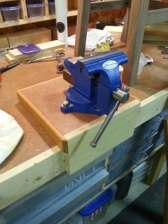 A workbench vise mount for ease of clamping to any workbench. http://bushwoodworking.com/2014/01/31/workbench-vise-and-mount/