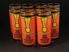 Barware Collection - PARKER PEN POP ART GRAPHIC - HIGHBALL GLASSES
