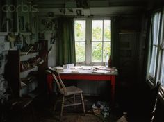 Dylan Thomas's Desk in his writing shed