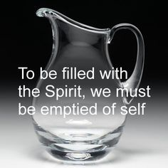 This should be full sufficiency to the one whose heart is yielded to God. But there are many other things we cram into the space of our life that is all meaningless fluff taking up valuable time and energy that could be better spent with God.